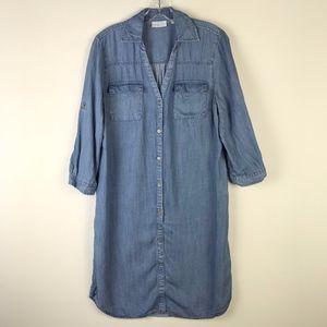 New York & Company Button Down Shirt Dress #1699